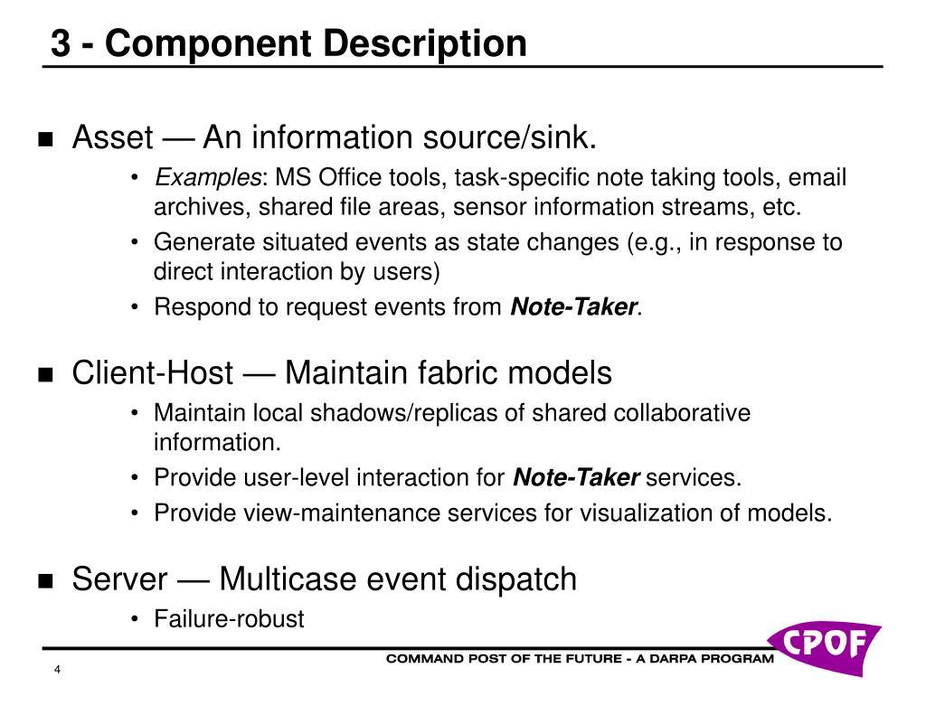 3 - Component Description