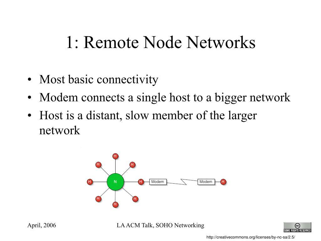1: Remote Node Networks