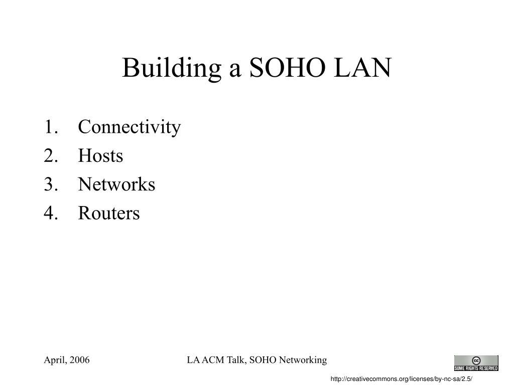 Building a SOHO LAN