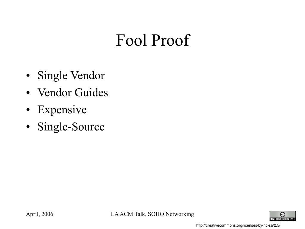 Fool Proof