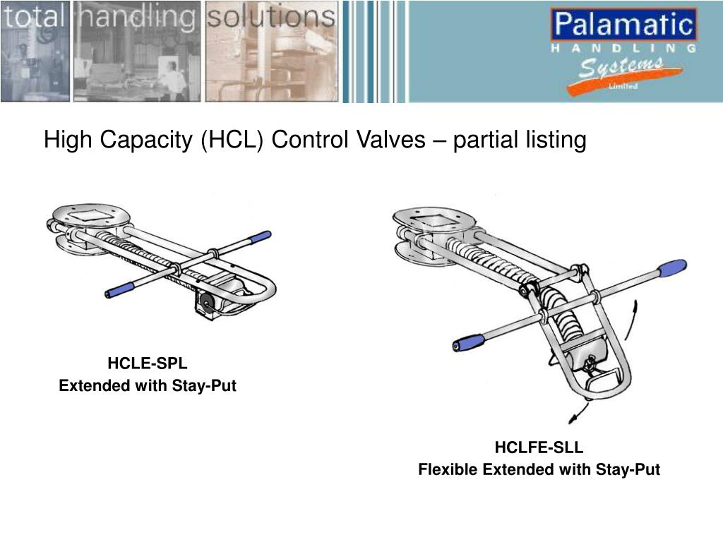 High Capacity (HCL) Control Valves – partial listing