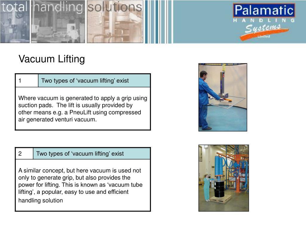 Vacuum Lifting