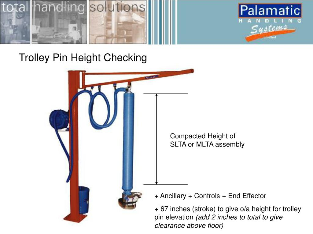 Trolley Pin Height Checking