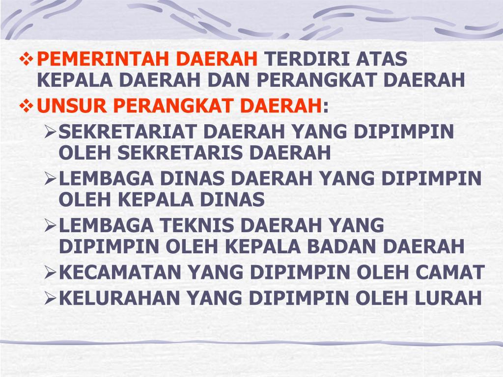 PEMERINTAH DAERAH