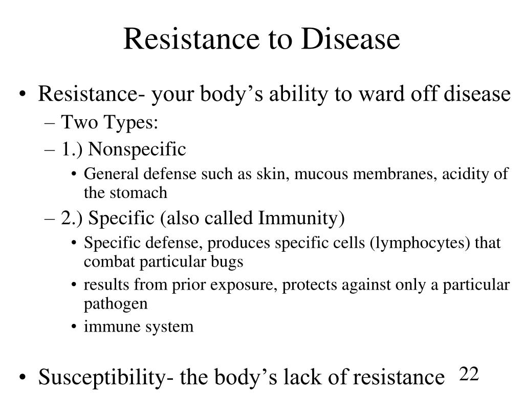 Resistance to Disease