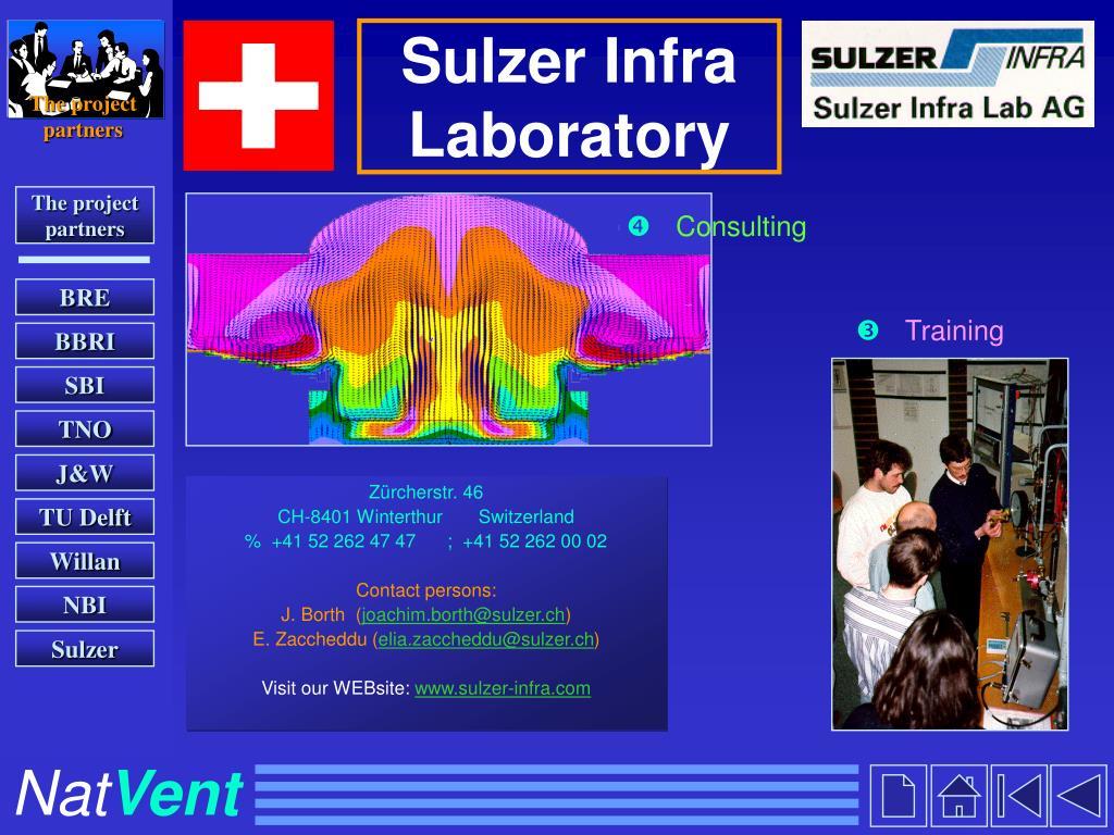 Sulzer Infra Laboratory