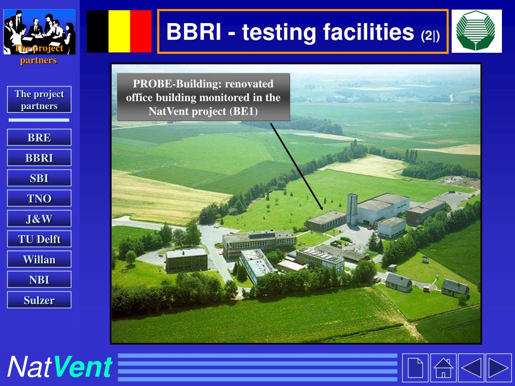BBRI - testing facilities