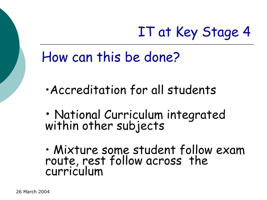 IT at Key Stage 4