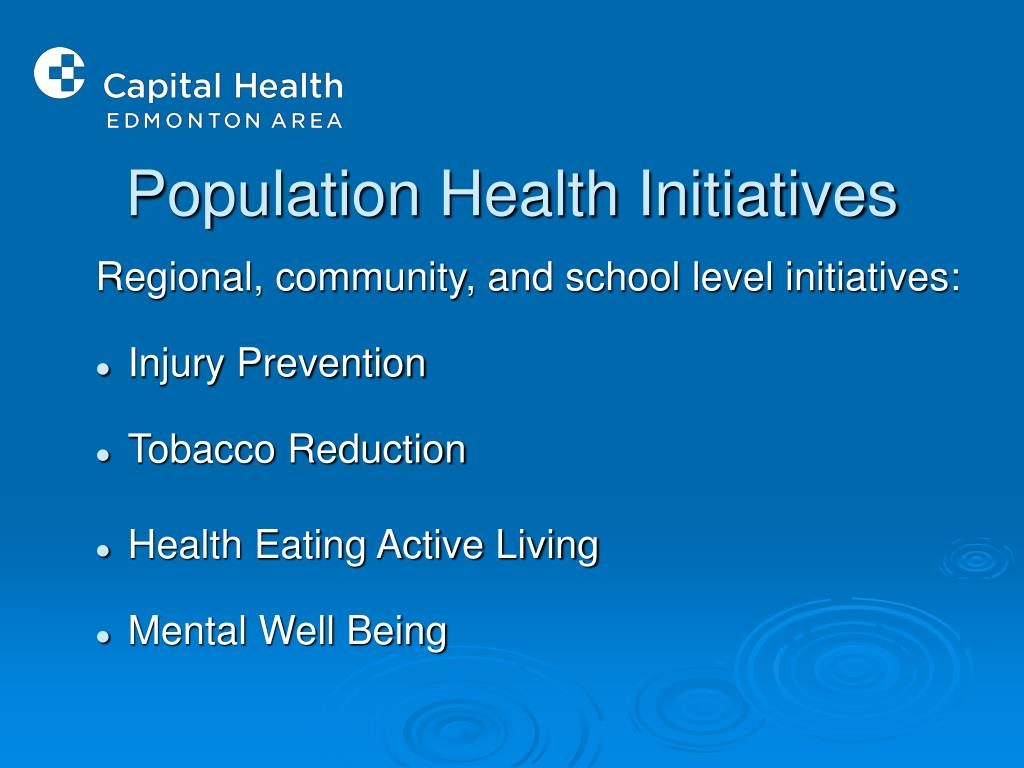 Population Health Initiatives