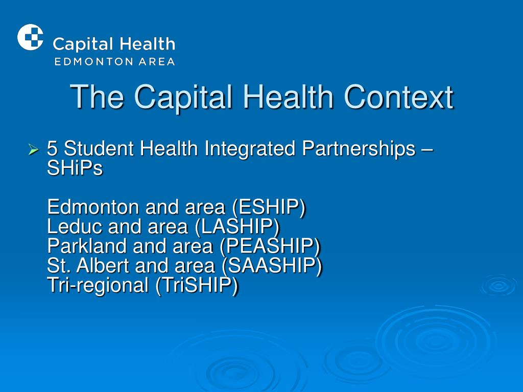 The Capital Health Context
