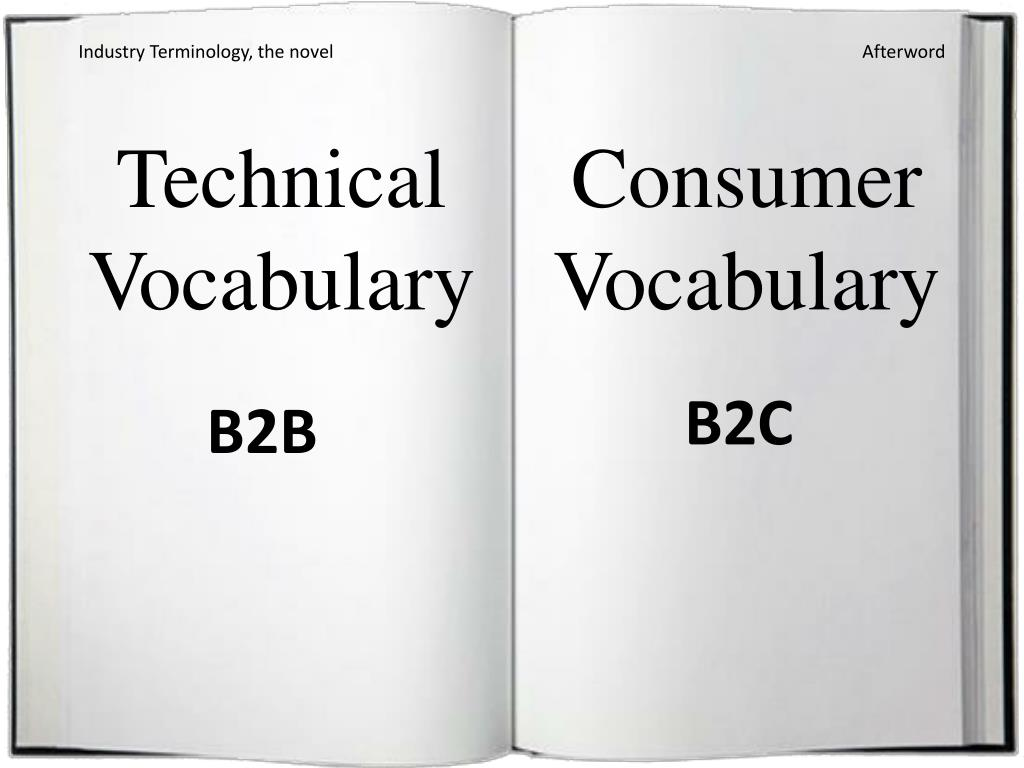 Industry Terminology, the novel