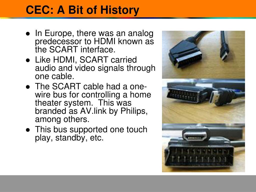 CEC: A Bit of History