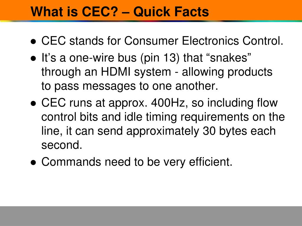 What is CEC? – Quick Facts