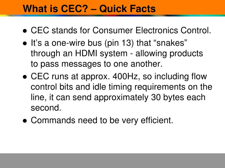 What is cec quick facts