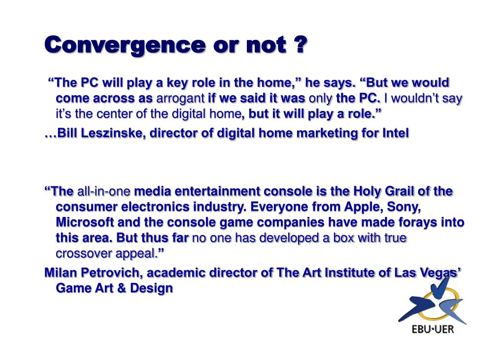 Convergence or not ?
