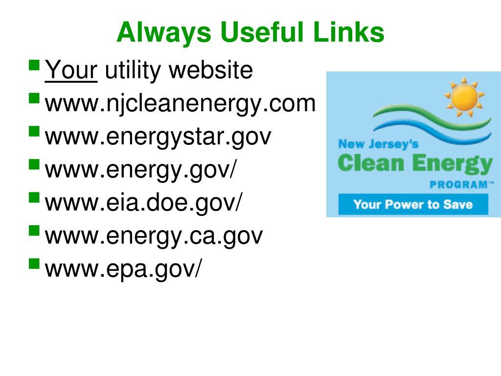 Always Useful Links