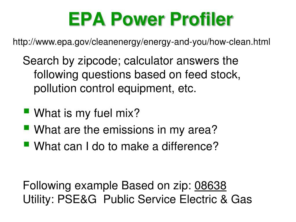 EPA Power Profiler