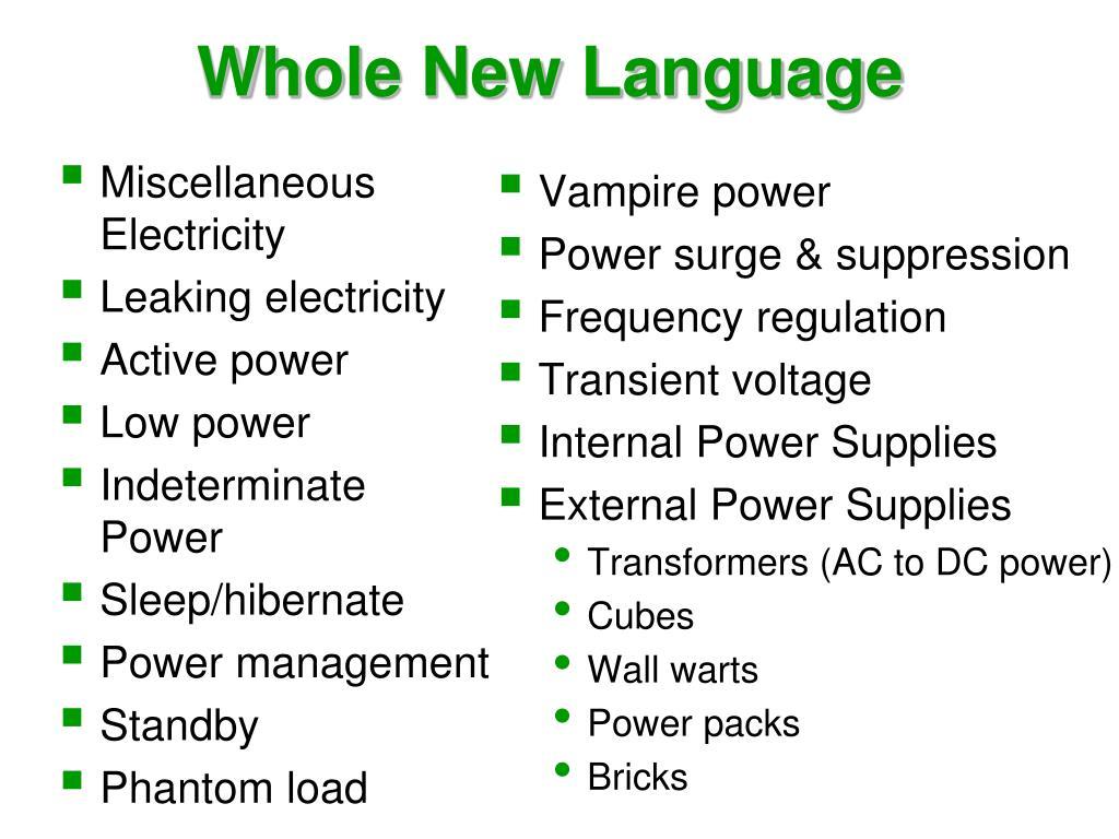 Whole New Language