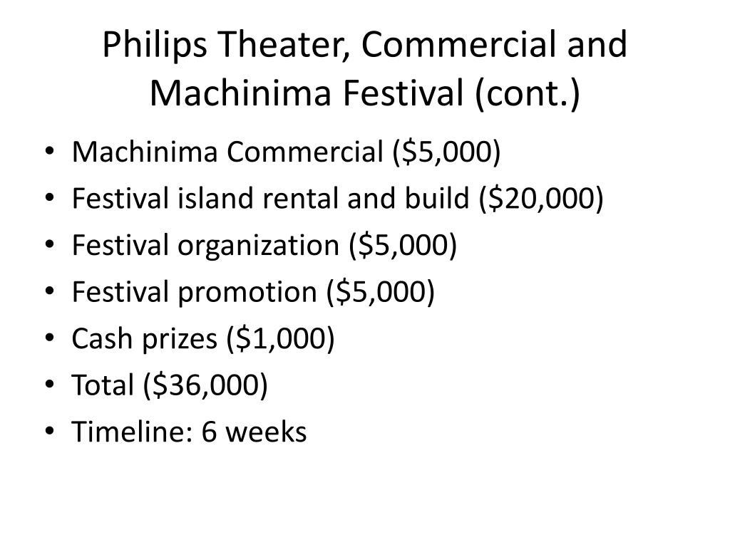 Philips Theater, Commercial and