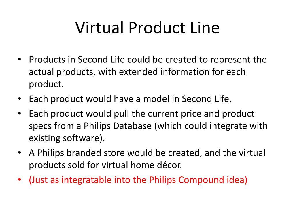 Virtual Product Line