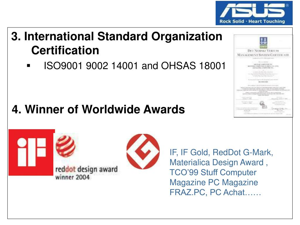 3. International Standard Organization Certification