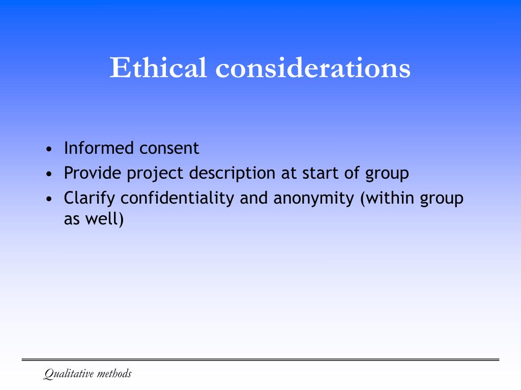 ethical considerations project For guidance with ethical concerns, project managers should refer to the project management institute's code of ethics, as well as the program management improvement and accountability act.
