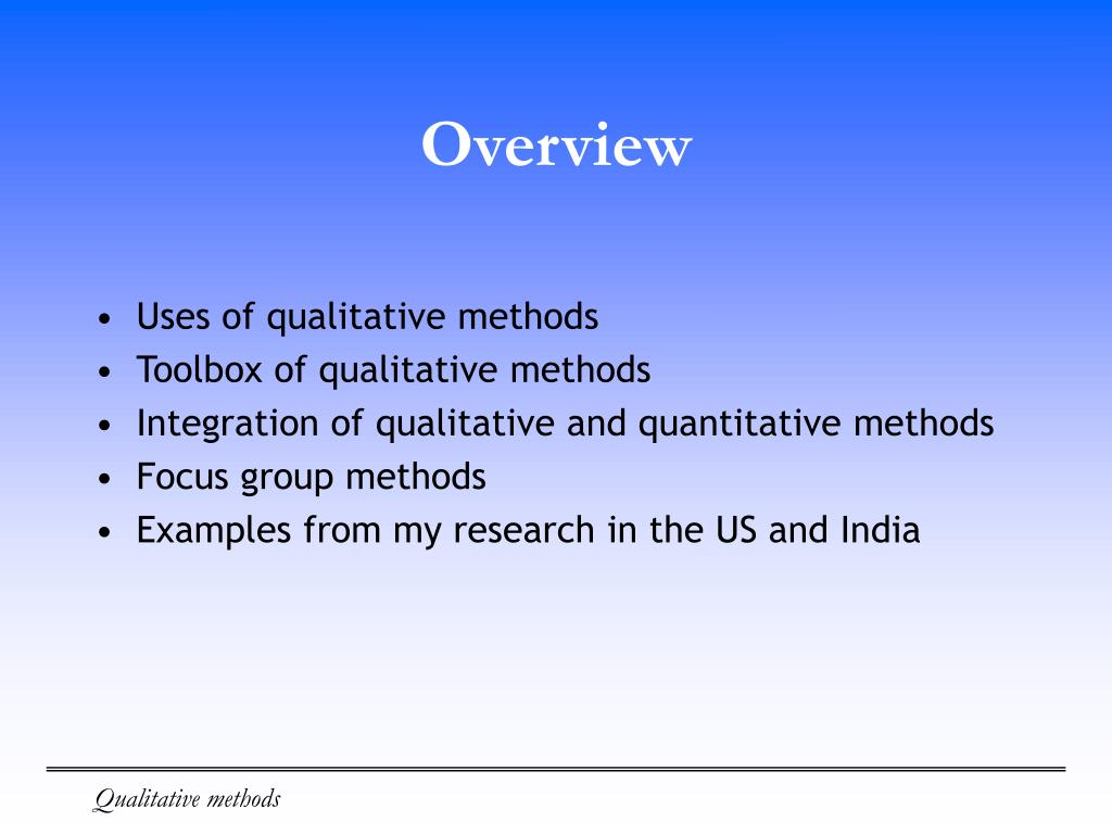 an overview of quantitative and qualitative data collection methods pdf