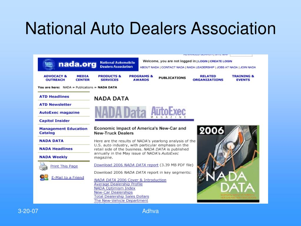 National Auto Dealers Association