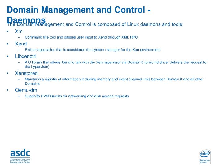 Domain Management and Control - Daemons
