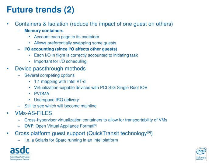 Future trends (2)