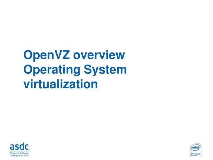 OpenVZ overview