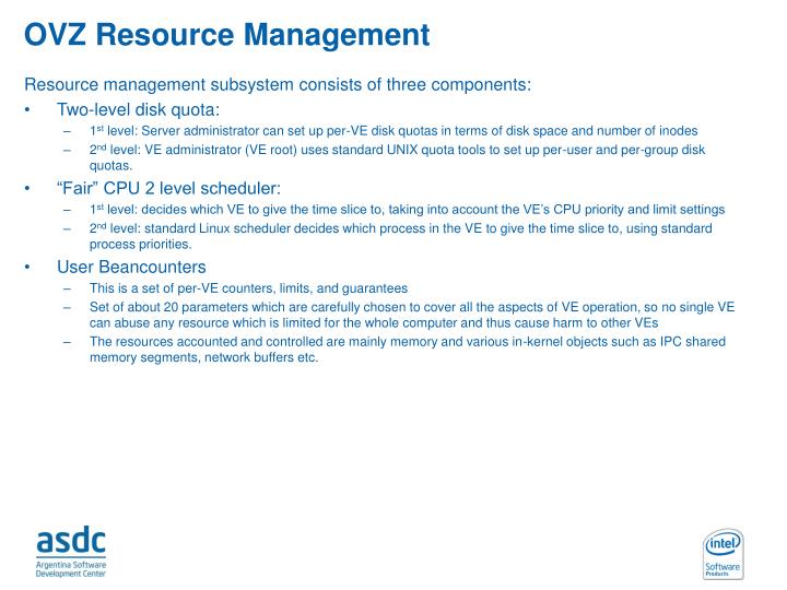OVZ Resource Management
