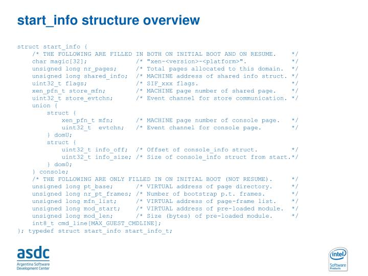 start_info structure overview
