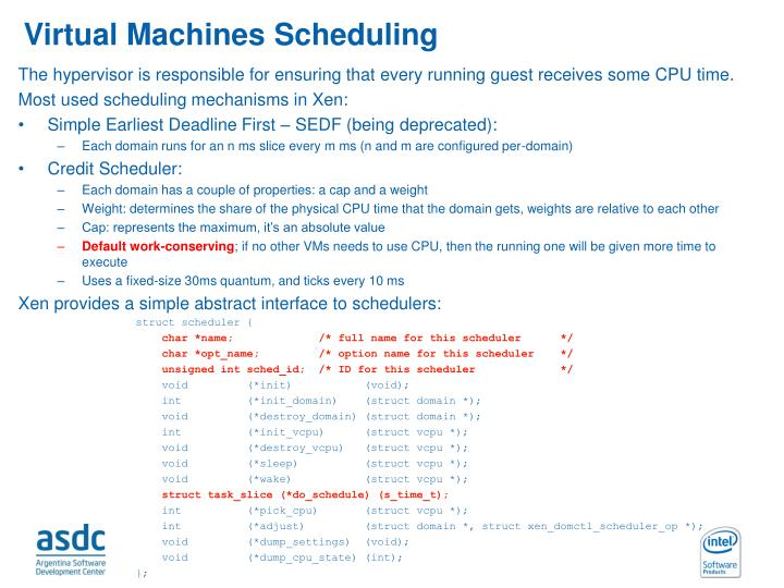 Virtual Machines Scheduling