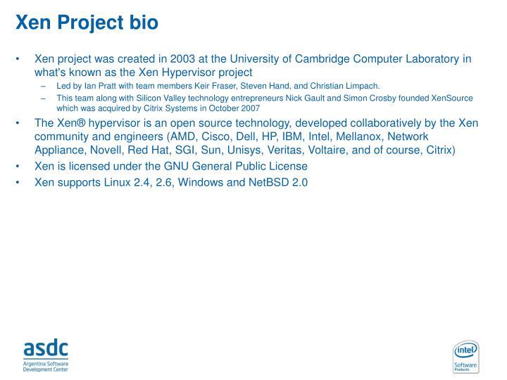 Xen Project bio