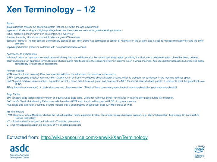 Xen Terminology – 1/2
