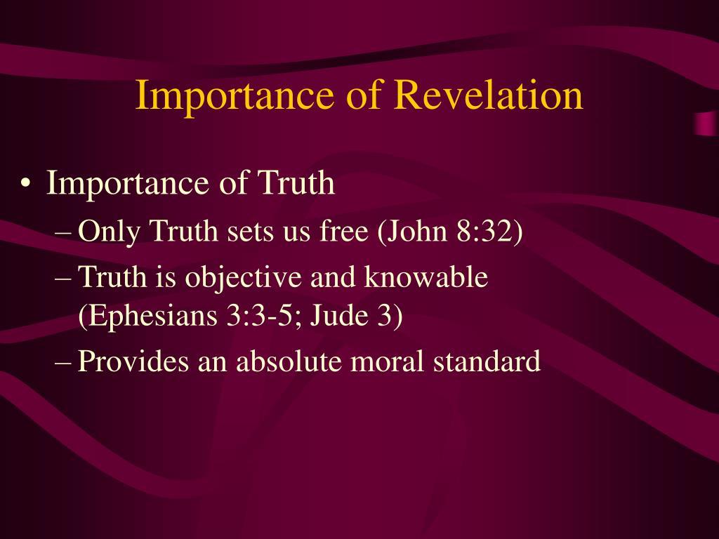 Importance of Revelation