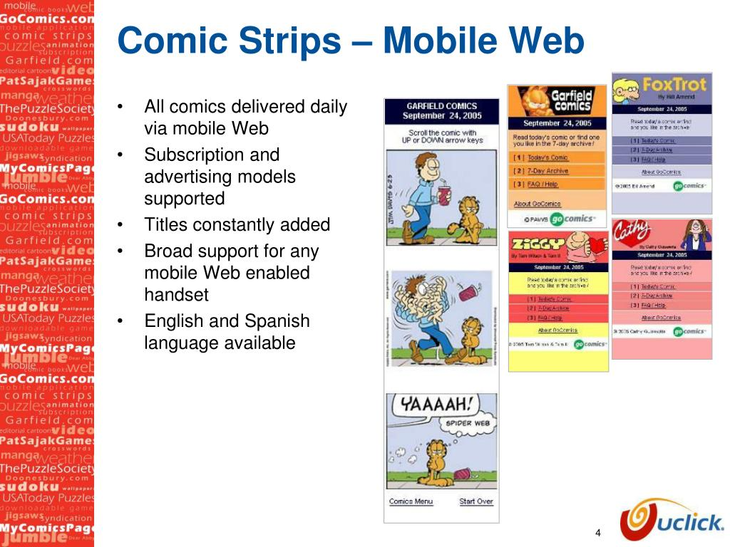 Comic Strips – Mobile Web