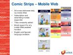 comic strips mobile web