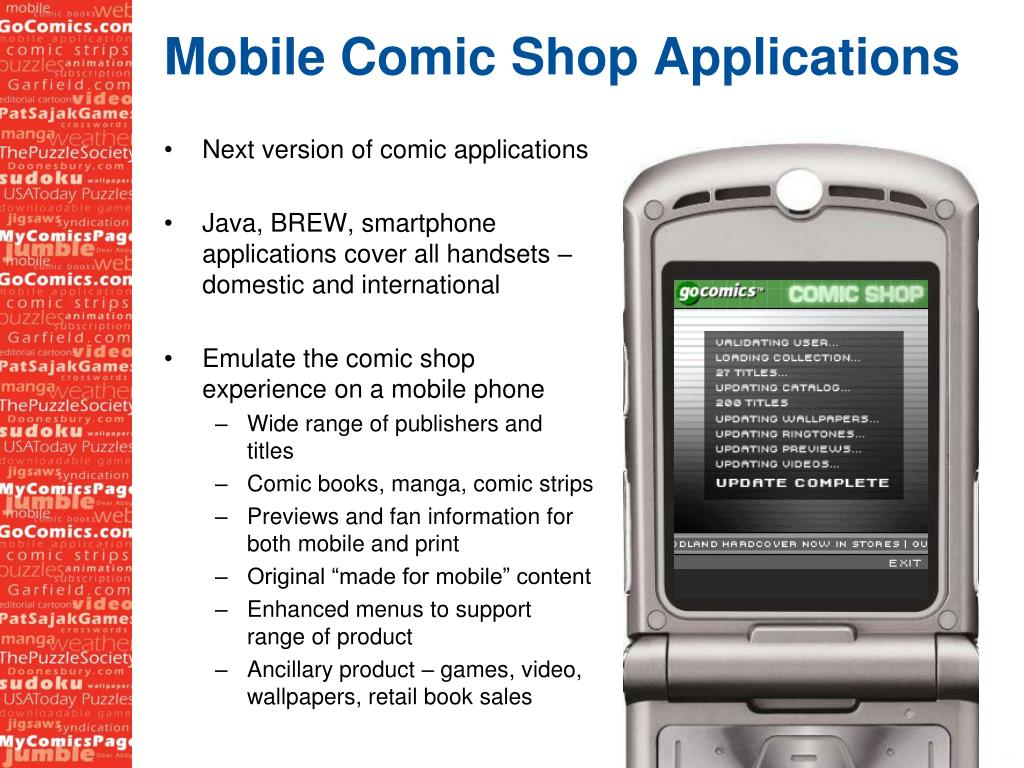 Mobile Comic Shop Applications