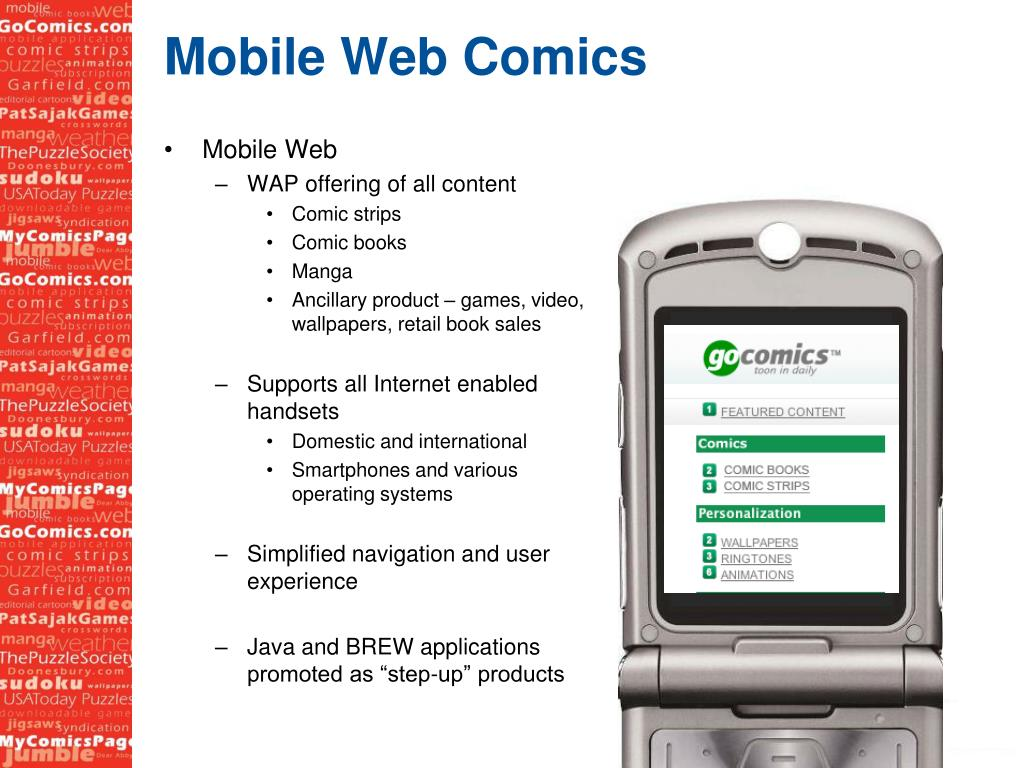 Mobile Web Comics