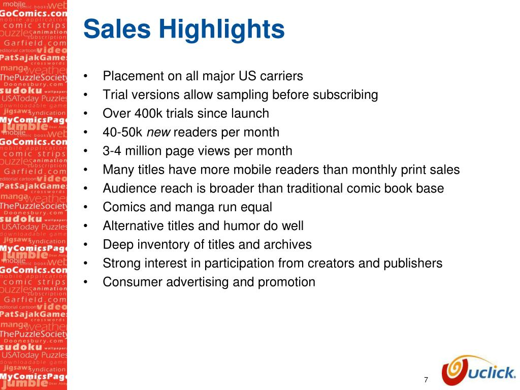 Sales Highlights