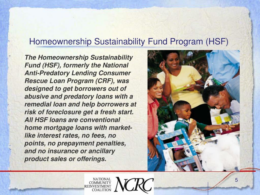 Homeownership Sustainability Fund Program (HSF)