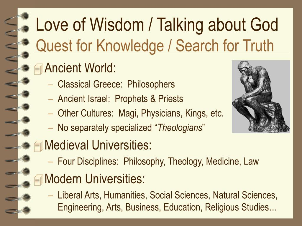 Love of Wisdom / Talking about God
