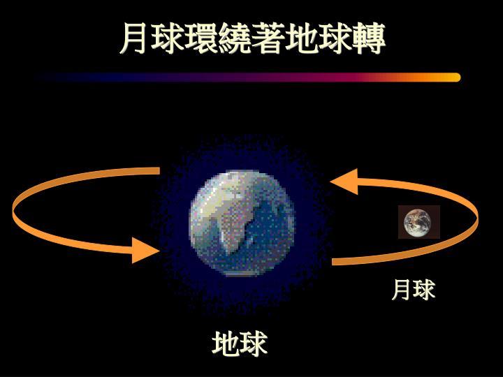 月球環繞著地球轉