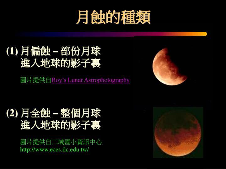 月蝕的種類