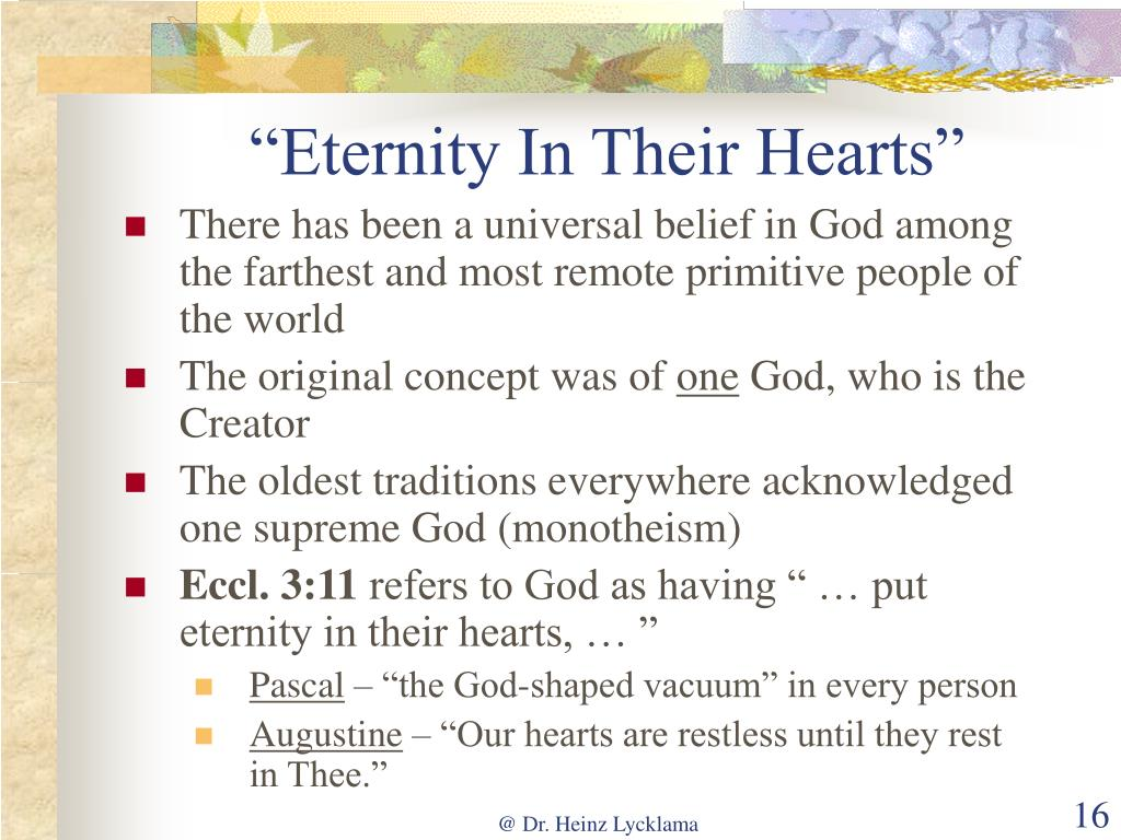 """Eternity In Their Hearts"""