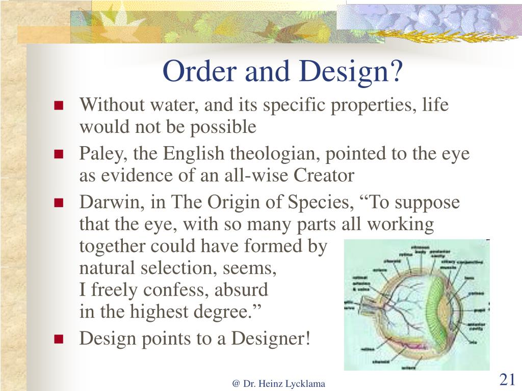 Order and Design?