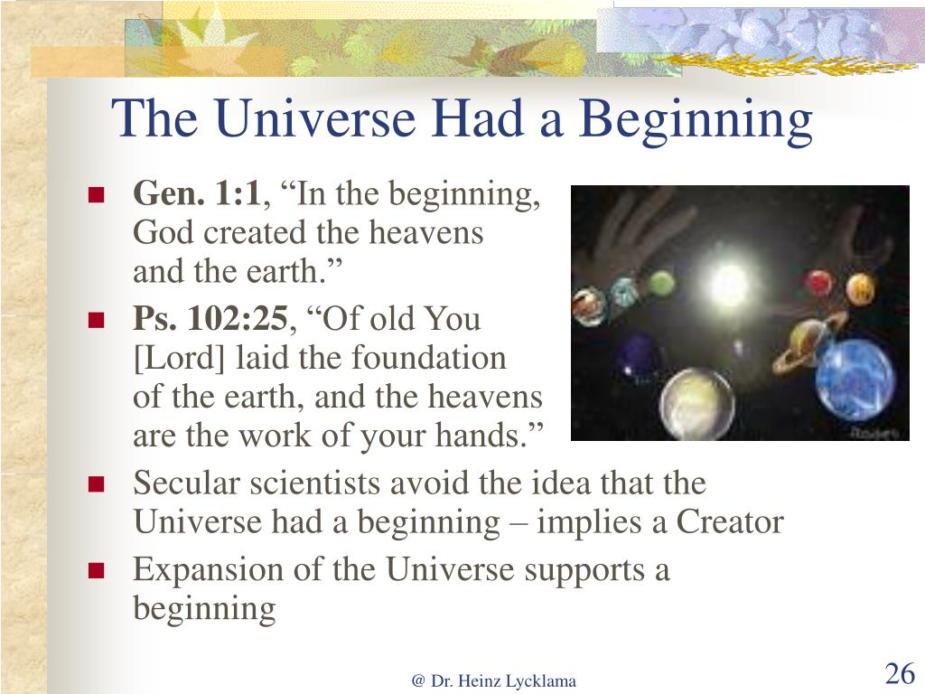 The Universe Had a Beginning