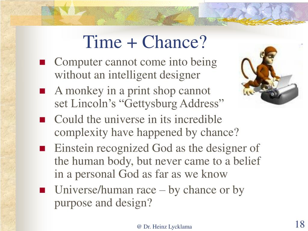 Time + Chance?